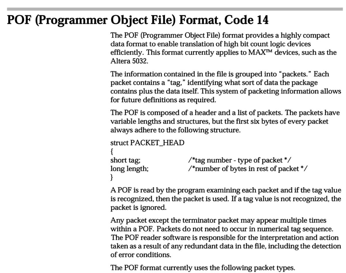 POF File Format