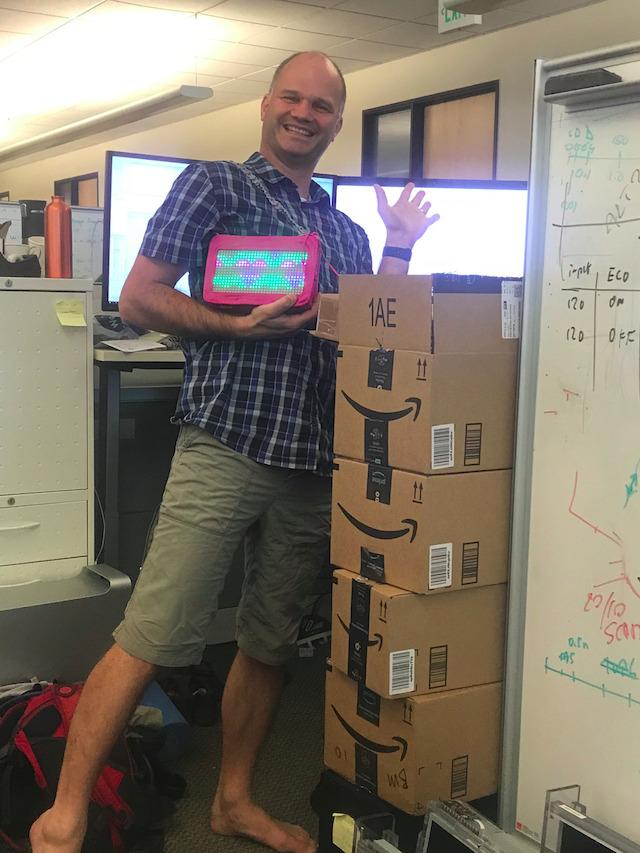 Amazon boxes with 12 Pixel Purses