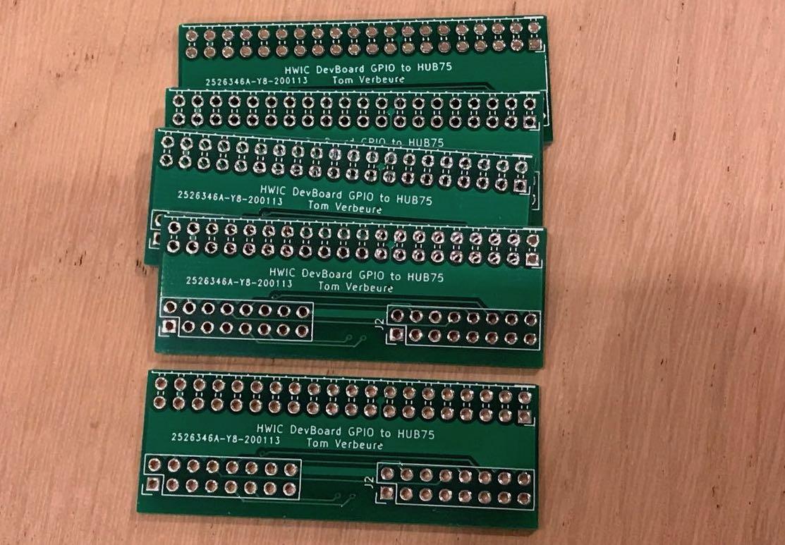 GPIO to HUB75 board
