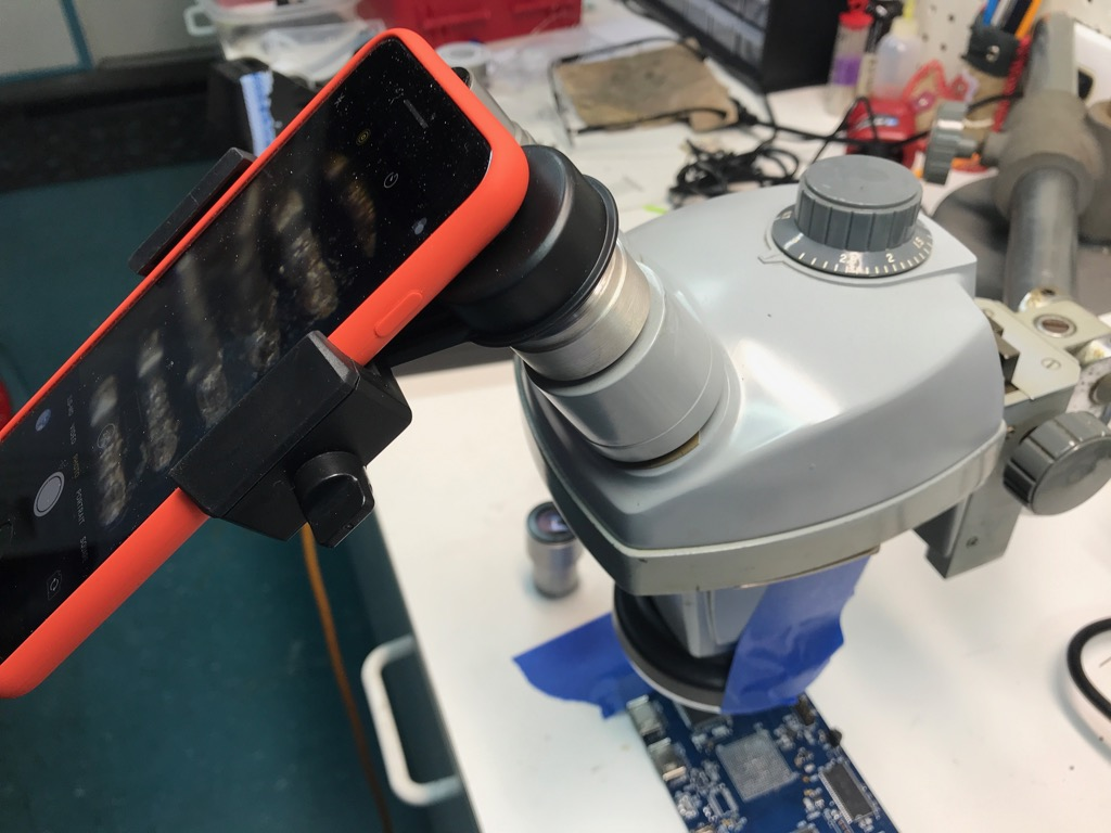 Phone Adapter on Microscope