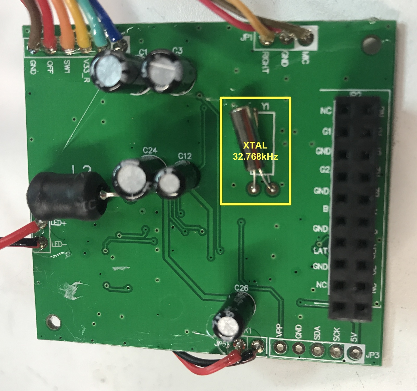 Annotated Controller PCB Back