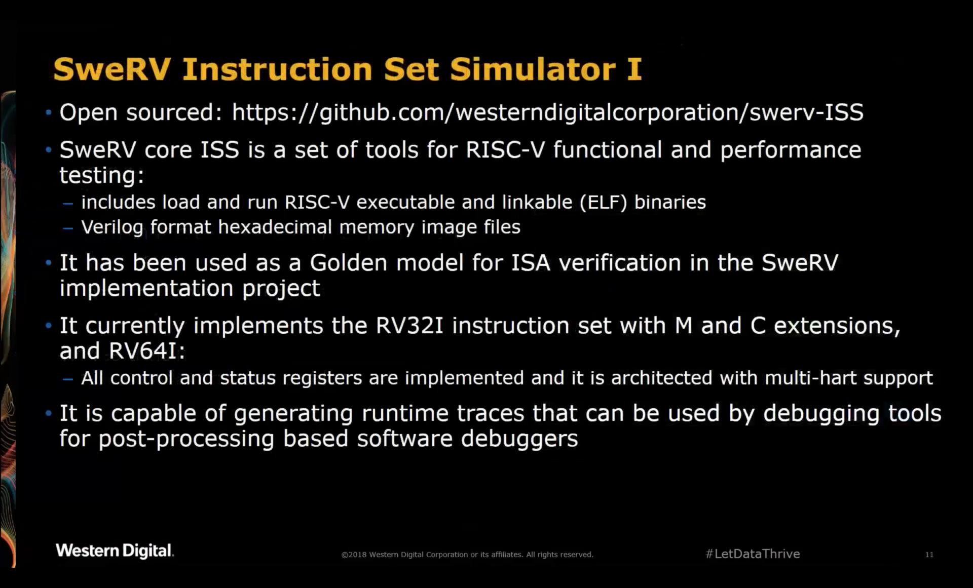 SweRV Instruction Set Simulator 1
