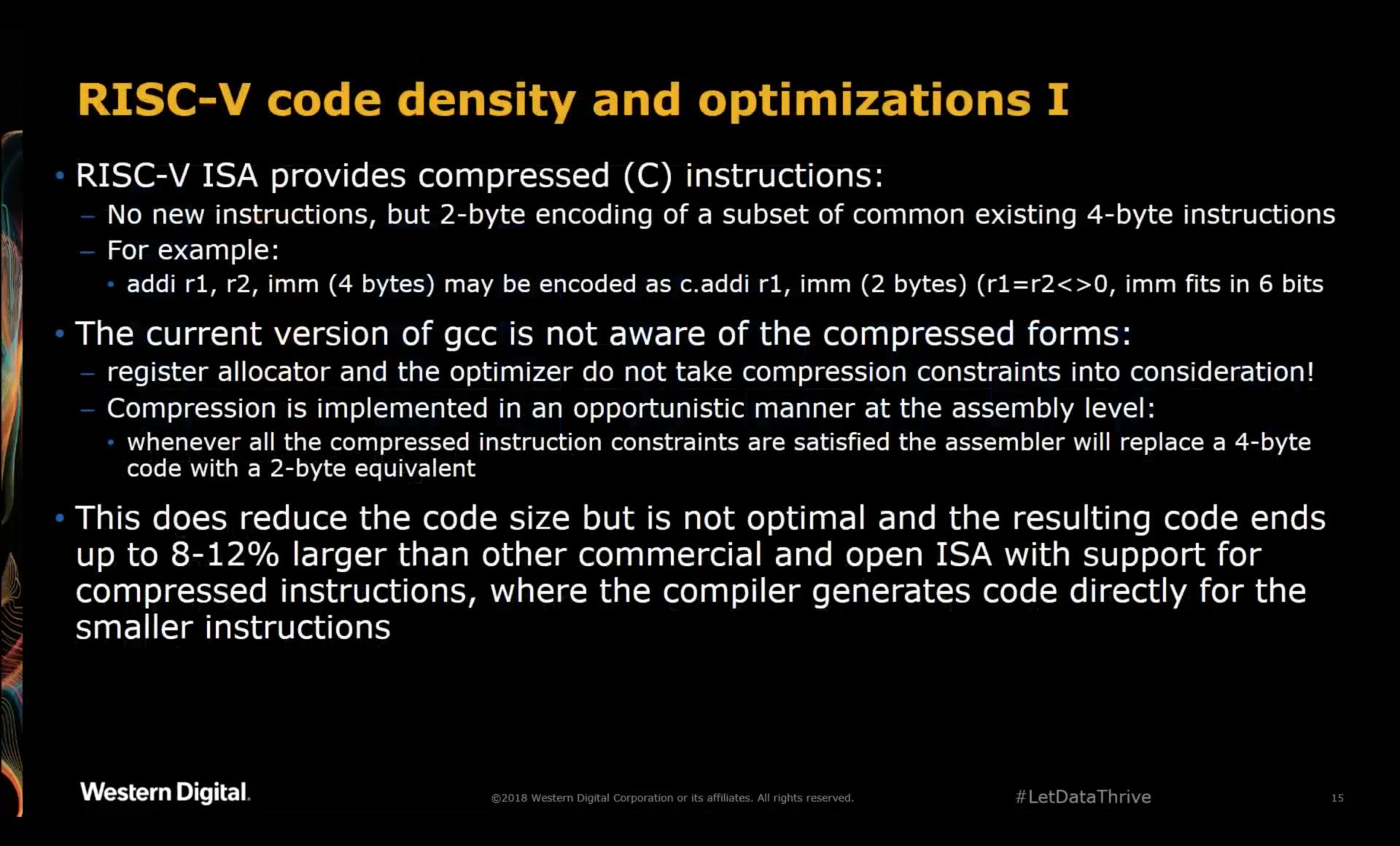 RISC-V Code Density and Optimization 1